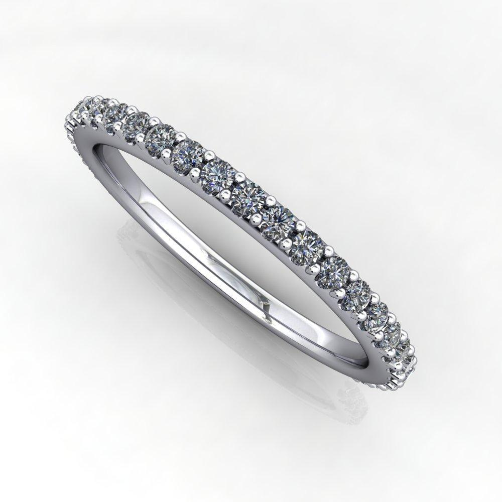 lab-grown diamond wedding band soha diamond co.