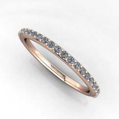 1/4 diamond ctw wedding band white gold soha diamond co
