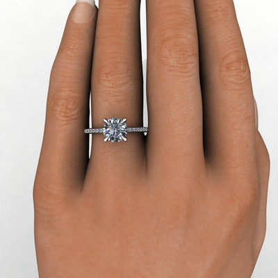 engagement ring solitaire with side stones Soha Diamond Co.