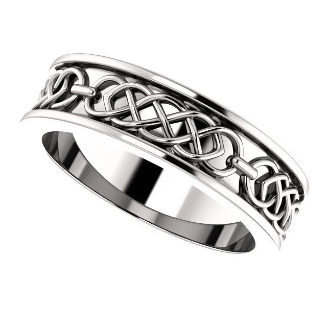 Wedding Bands - Celtic-Inspired Wedding Band (6mm)