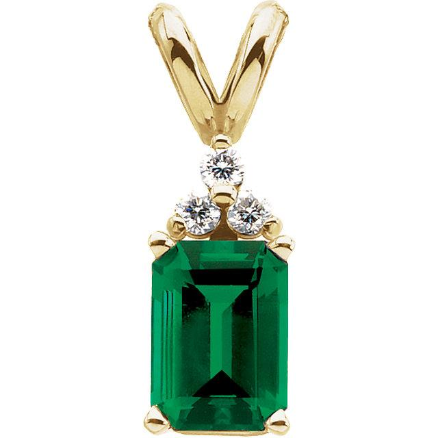Chatham created emerald necklace Soha Diamond Co.