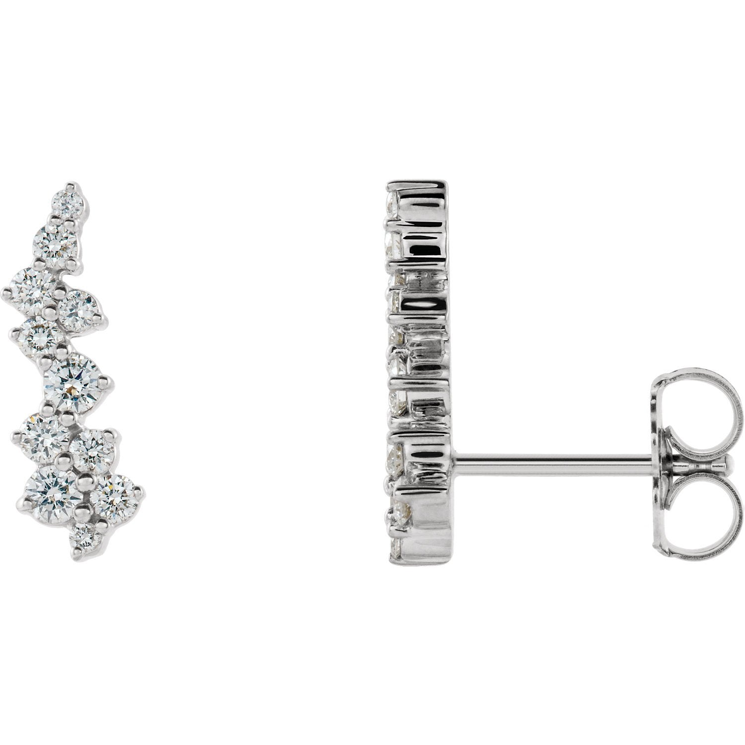 Lab-Grown Diamond Cluster earring white gold