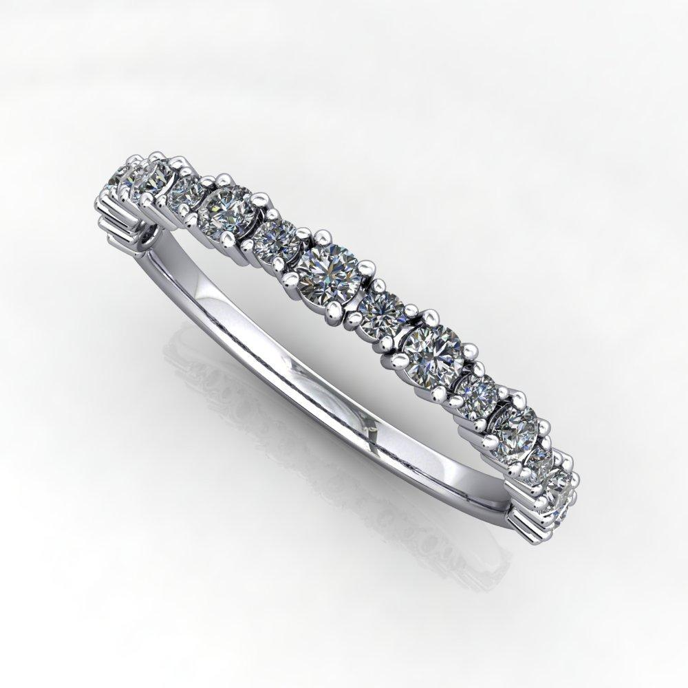 Dual-Size Diamond Anniversary Wedding Band