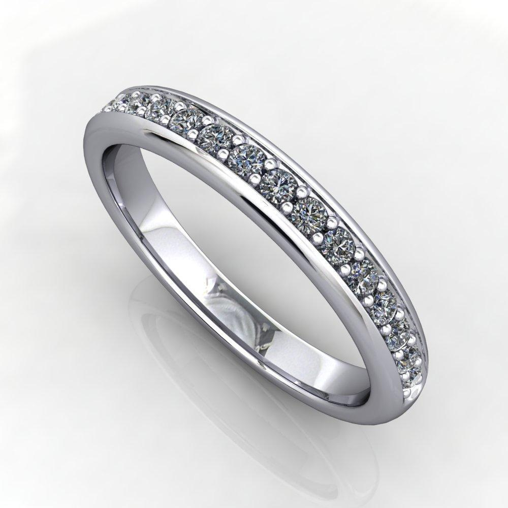 1/8 ctw lab-grown diamond wedding band