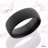 NYX Elysium Black Diamond Domed Wedding Band matte finish