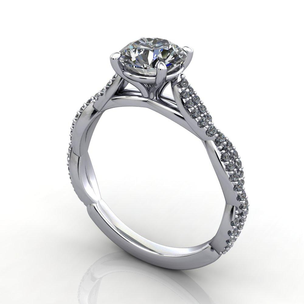 Infinity inspired solitaire engagement ring soha diamond co.