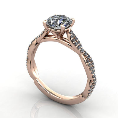 Infinity inspired solitaire engagement ring soha diamond co. rose gold