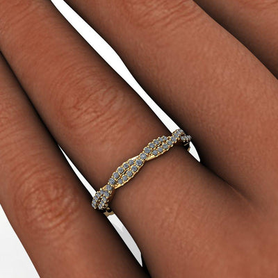 infinity inspired twist diamond wedding band