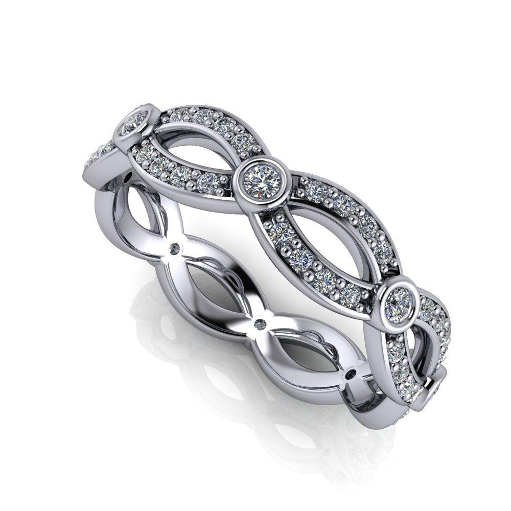 infinity inspired diamond wedding band soha diamond co