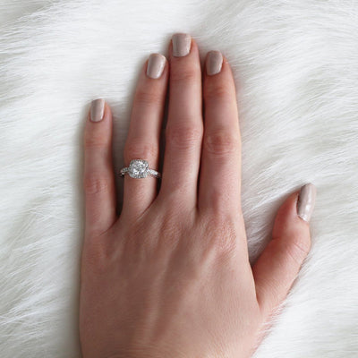 Isabelle Halo Engagement Ring