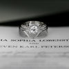 Vintage inspired engagement ring square halo