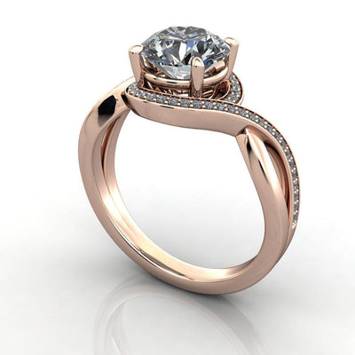 Leila Halo Lab-Grown Diamond Engagement Ring