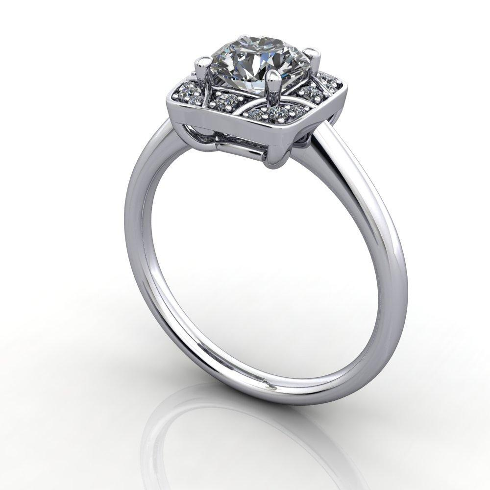 vintage inspired engagement ring soha diamond co.
