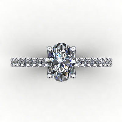Petal French-Set Solitaire Lab-Grown Diamond Engagement Ring