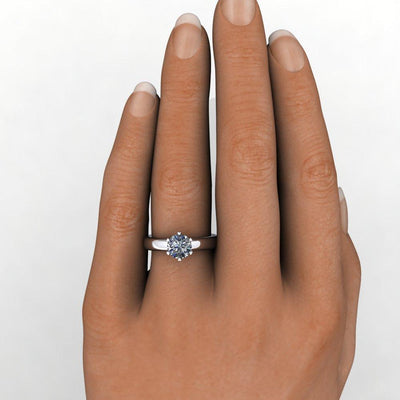 soha diamond co classic solitaire engagement ring