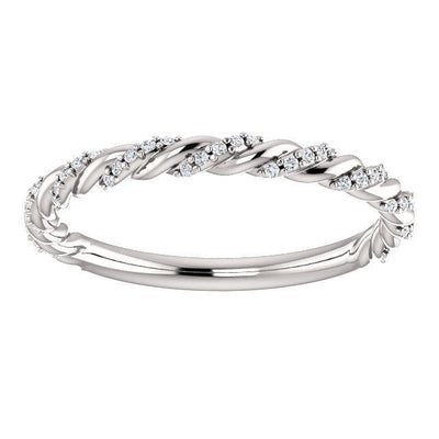 Pavé Diamond Twisted Anniversary Band (1/8 CTW)