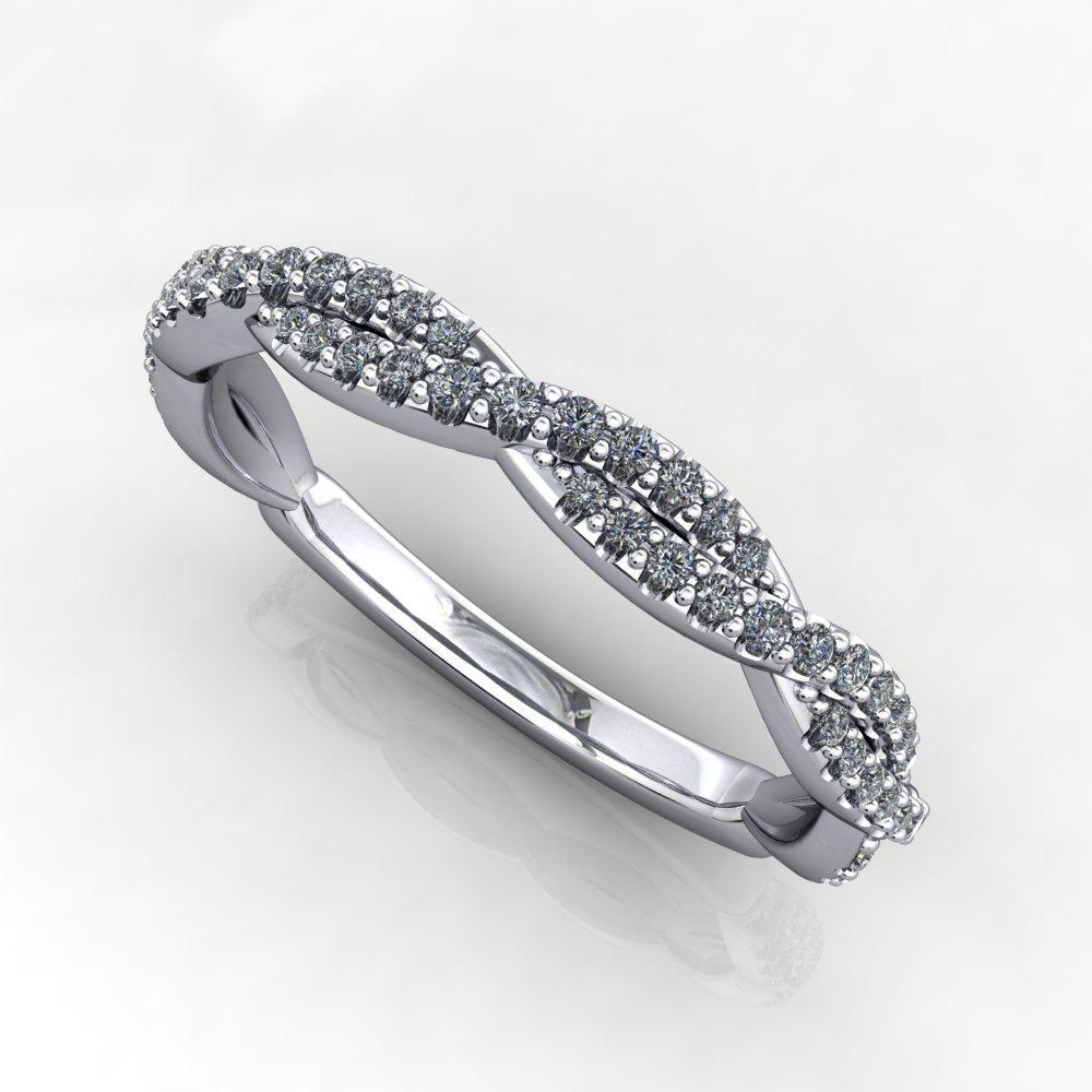 infinity inspired diamond wedding band white gold