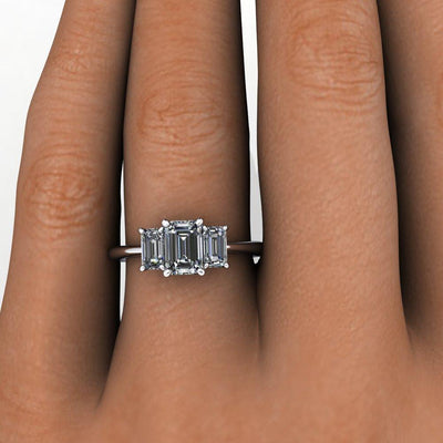 Soha Diamond co. three stone solitaire