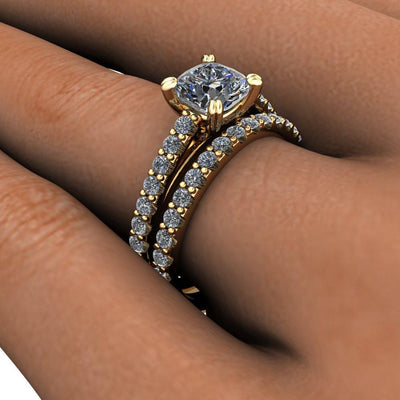 Aurora Diamond Wedding Band