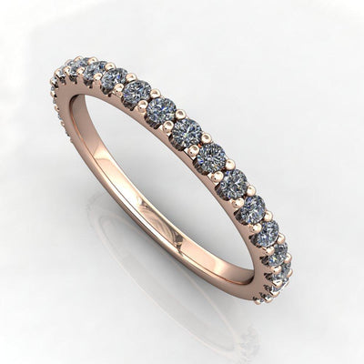 1/4 ctw lab grown diamond band rose gold