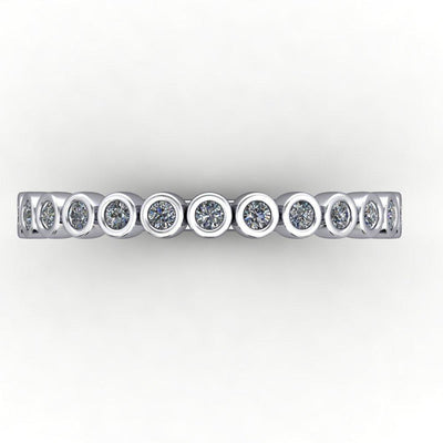 Bezel-set diamond wedding band soha diamond co