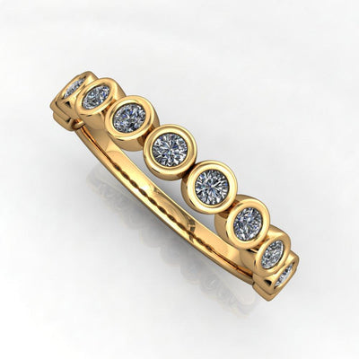 one fourth diamond ctw bezel set wedding band