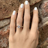 Cathedral solitaire on hand with square diamond