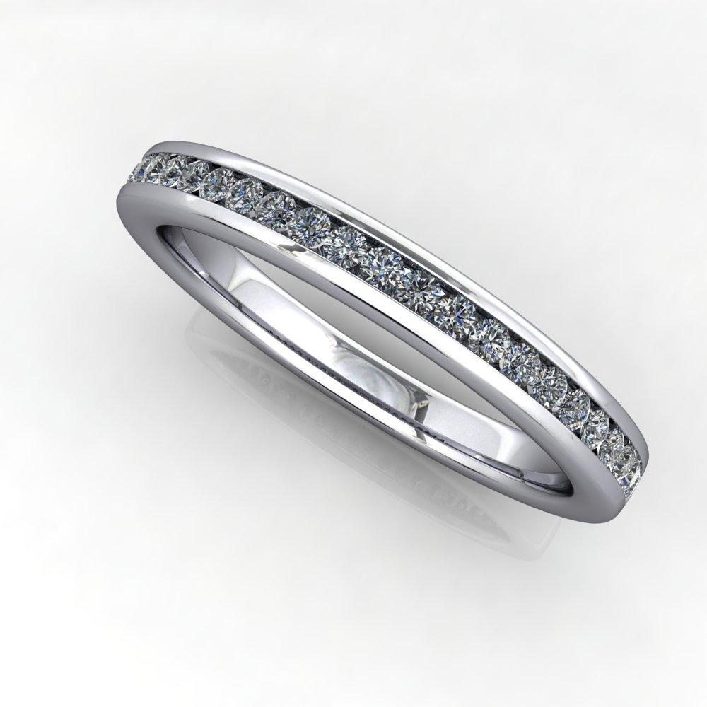 1/4 ctw channel set round edge wedding band