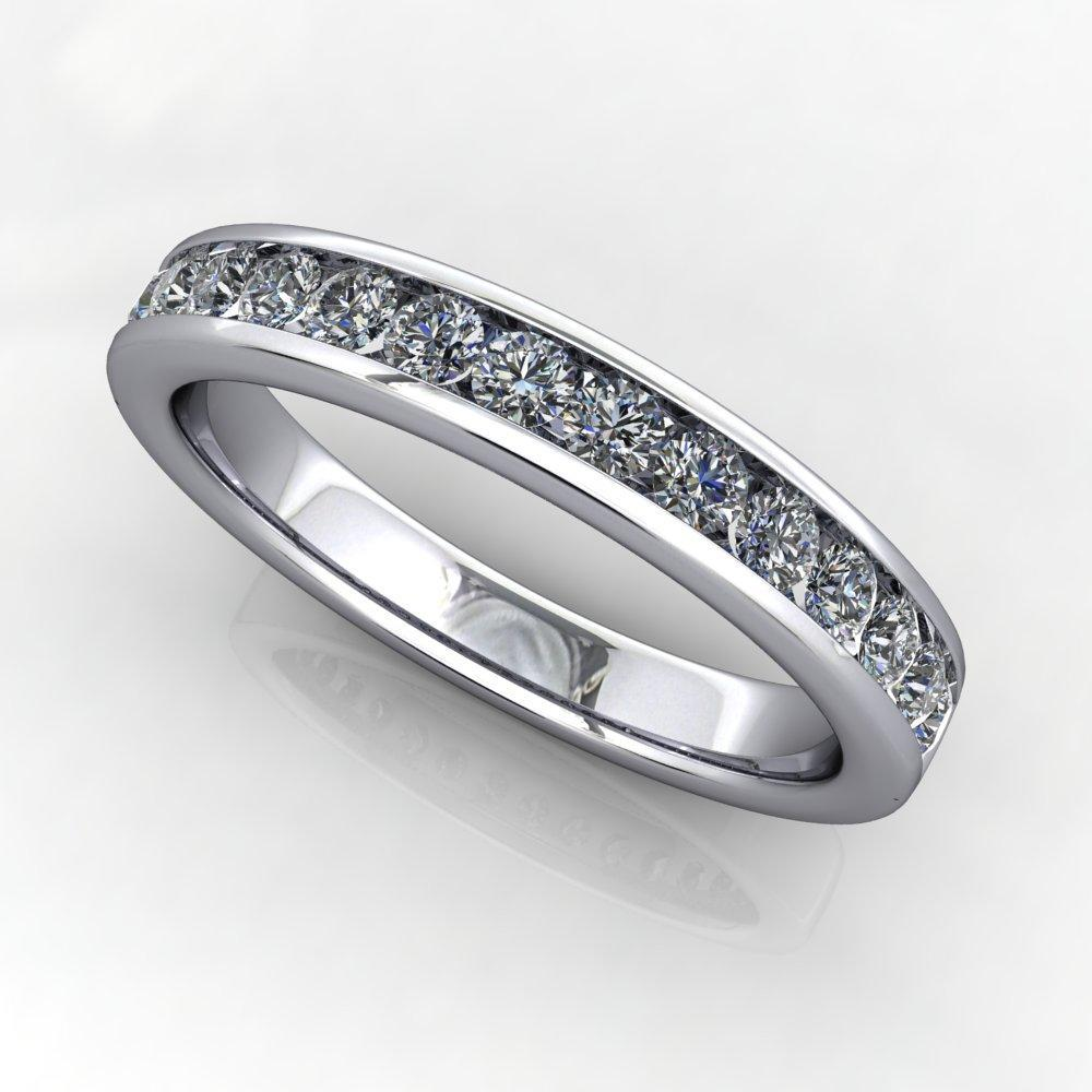 Channel-Set Diamond Anniversary Band (1/2 CTW)