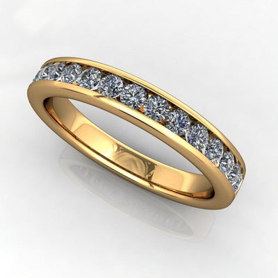 Channel-Set Diamond Anniversary Band (1/2 CTW) yellow gold