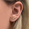 Yellow gold constellation ear climbers