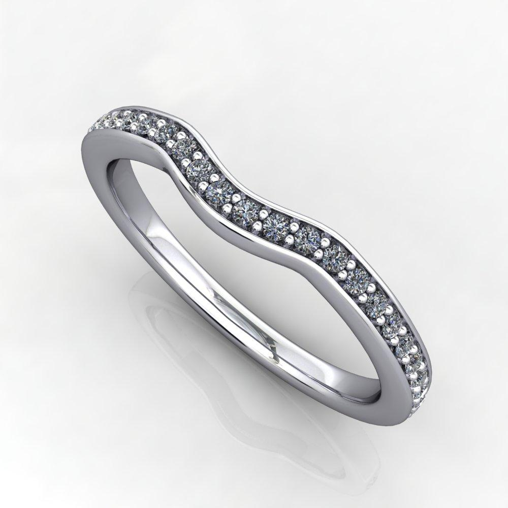 Crown Contoured Wedding Band