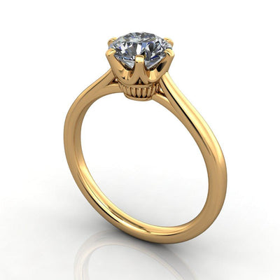 Crown Solitaire Lab-Grown Diamond Engagement Ring