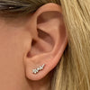 Lab-Grown diamond cluster ear climber earring