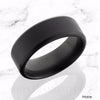 ARES Elysium Black Diamond Wedding Band Beveled