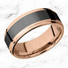 Black and rose gold band elysium black diamond