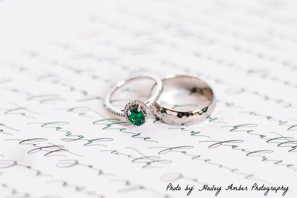 chatham emerald halo ring