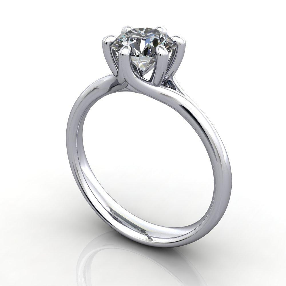 six-prong simple solitaire soha diamond co.