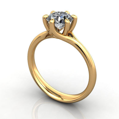 six-prong simple solitaire soha diamond co.  yellow gold