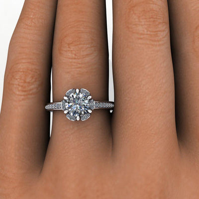 Primrose Halo Lab-Grown Diamond Engagement Ring