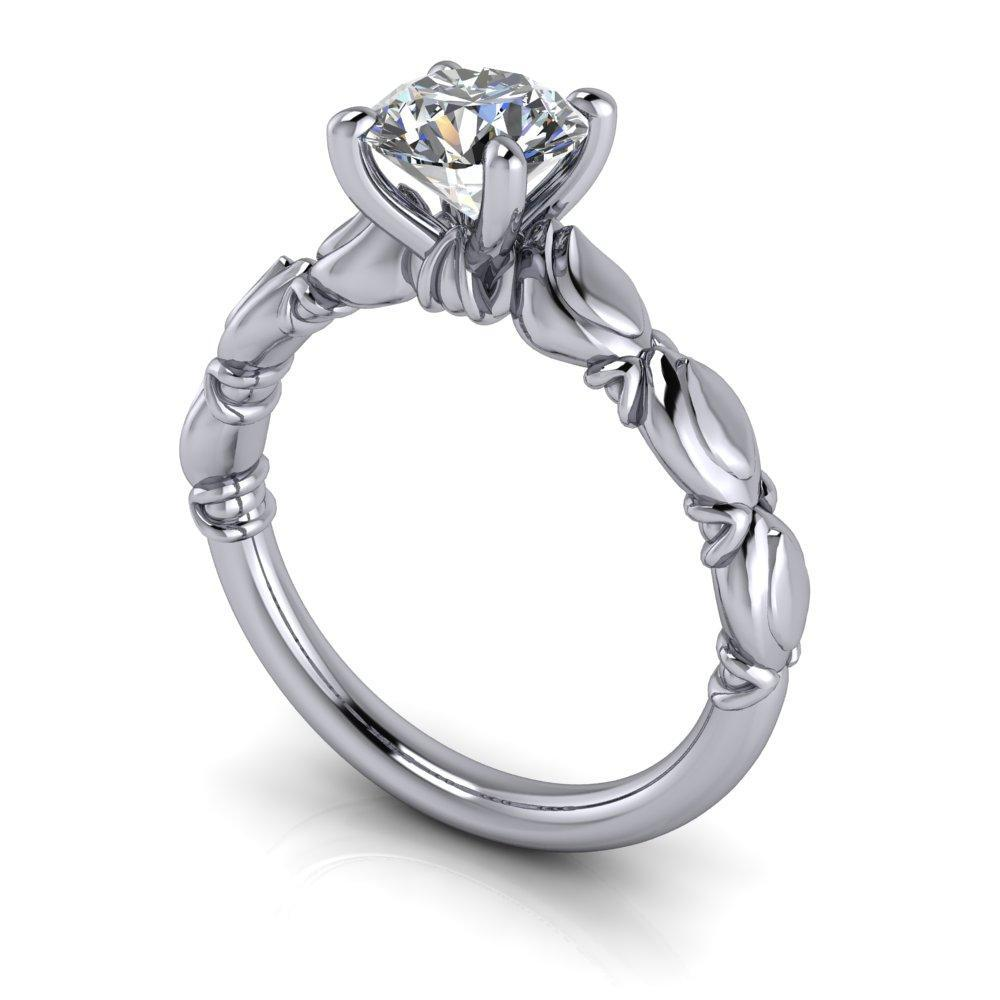 floral inspired lab grown diamond engagement ring