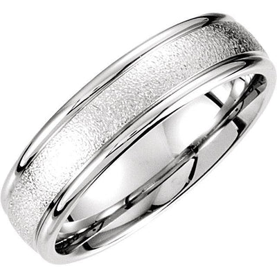 Comfort Fit Foil Finish Wedding Band (6mm)