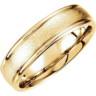 Wedding Bands - Comfort Fit Foil Finish Wedding Band (6mm)
