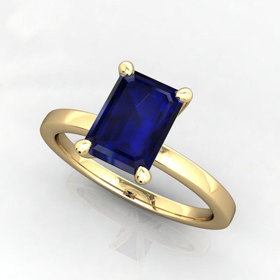Four prong classic gemstone solitaire