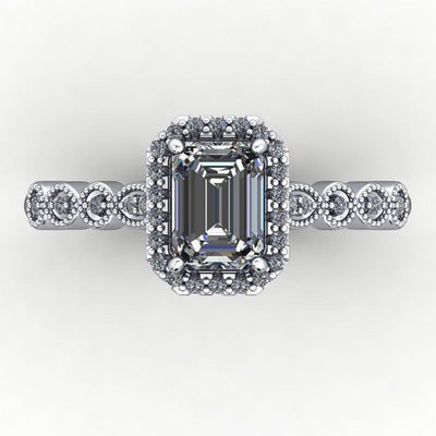 Grace Halo Engagement Ring