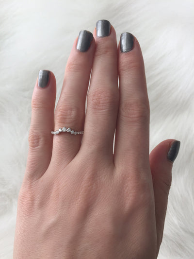 Graduated Contoured Wedding Band