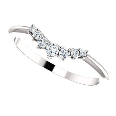 Half graduated diamond accented contour band