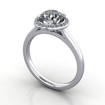 single halo engagement ring soha diamond co.