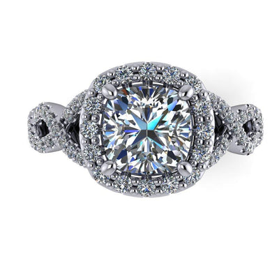 Lucille Halo Lab-Grown Diamond Engagement Ring