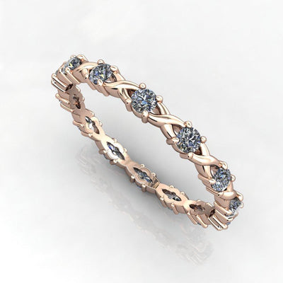 Intertwined Eternity Stackable Diamond Wedding Band